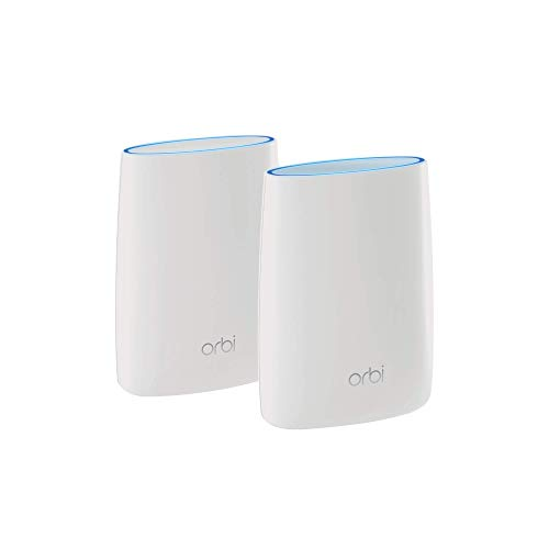 NETGEAR Orbi Tri-band Whole Home Mesh WiFi System with 3Gbps Speed (RBK50) – Router & Extender...