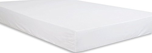 Utopia Bedding Cotton Sateen Fitted Sheet (King, White) - Premium Quality Combed Cotton Long Staple...
