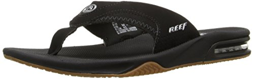 Reef Men's Fanning Speed Logo, Black (Schwarz (Black (Black/Silver), 12 M US