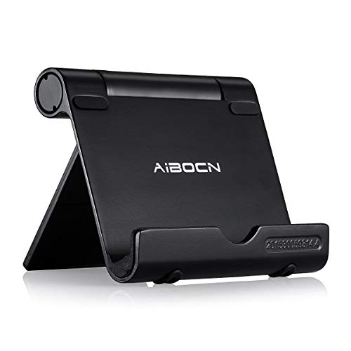 Aibocn Multi-Angle Cell Phone Stand, Adjustable Flodable Holder for Tablets Smartphones and...