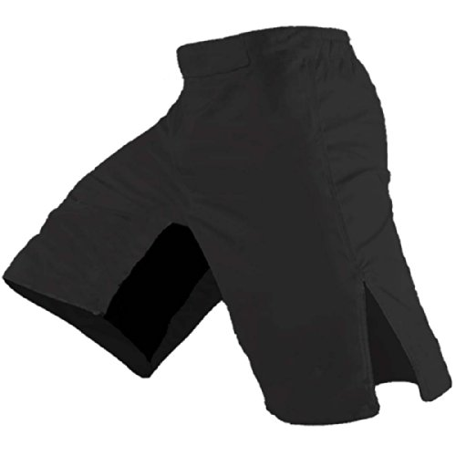 Quality MMA Shorts - Blank No Logo (34, Black)