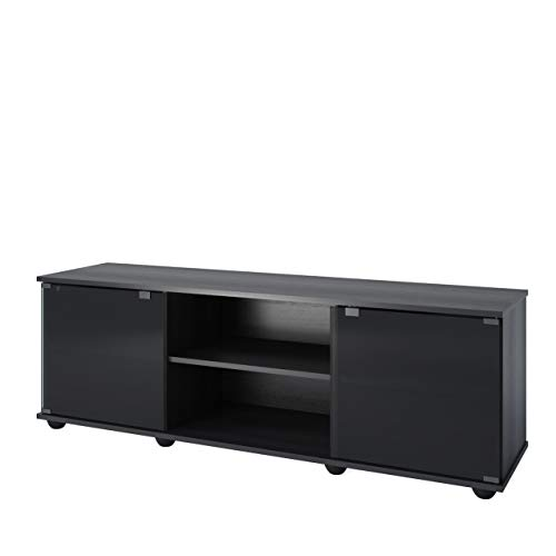 Sonax Fiji 60-Inch TV Component Bench, Ravenwood Black