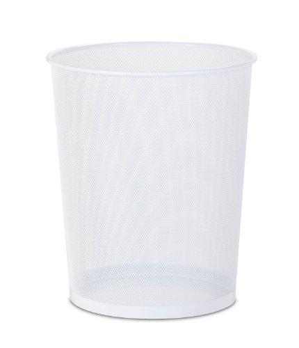 Honey-Can-Do TRS-02120 Steel Mesh Powder-Coated Waste Basket, White, 18-Liter/4.7-Gallon Capacity,...