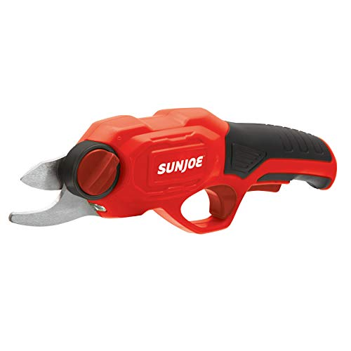 Sun Joe PJ3600C-RED Cordless Rechargeable Power Pruner, Red