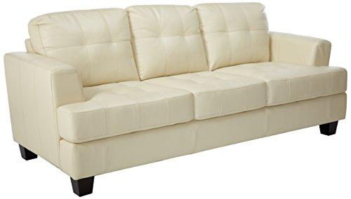 Samuel Leather Sofa Cream