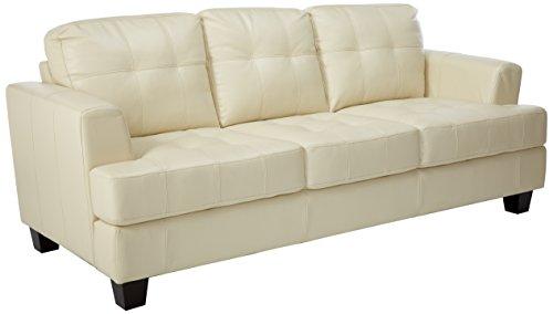 Samuel Leather Sofa Cream