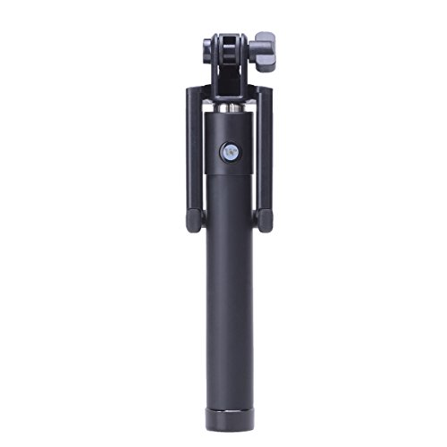 Disph Selfie Stick - Extendable Bluetooth Self Shooting Monopod(Black)