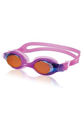 Speedo Kids' Skoogles Mirrored Swim Goggle, Purple/Pink