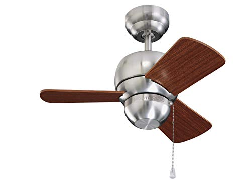 Monte Carlo 3TF24WH Micro 24' 24' Outdoor/ Indoor Ceiling Fan with Pull Chain for Closets Hallways...
