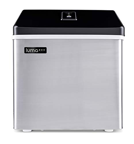 Luma Comfort Portable Clear Ice Maker 28 lb Daily, Perfect Countertop Icemaker Machine, IM200SS...
