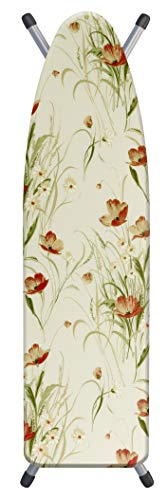 Laundry Solutions by Westex 4-Layer Ultra Thick Supreme Ironing Board Cover & Pad, 15' x54', Poppy