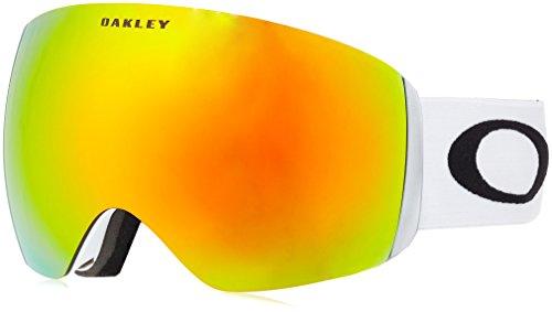 Oakley Flight Deck Ski Goggles, Matte White/Fire Irid