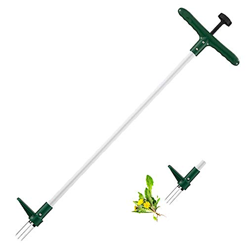Walensee Weed Puller, Stand Up Weeder Hand Tool, Long Handle Garden Weeding Tool with 3 Claws, Hand...
