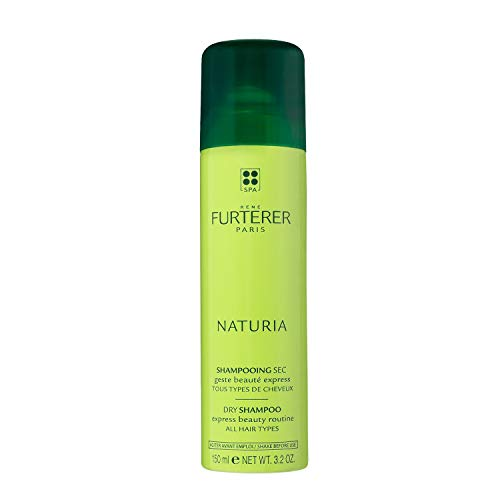 Rene Furterer NATURIA Dry Shampoo, Oil-Absorbing, Clay, Beige Tint, Lightly Scented, 3.2 oz.