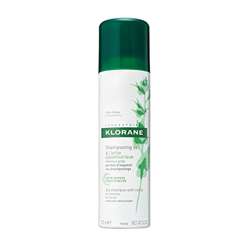 Klorane Dry Shampoo with Nettle for Oily Hair and Scalp, Regulates Oil Production, Paraben &...