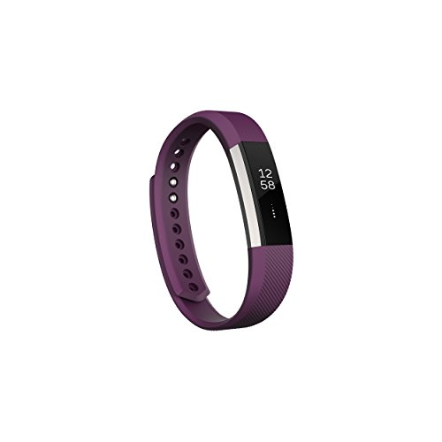 Fitbit Alta Fitness Tracker, Silver/Plum, Small (5.5 - 6.7 Inch) (US Version)