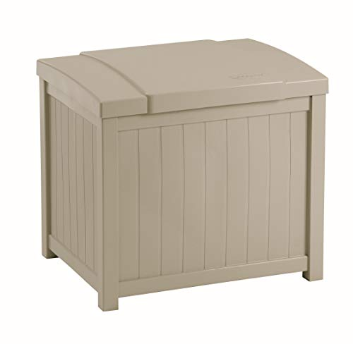 Suncast 22-Gallon Small Box-Lightweight Resin Indoor/Outdoor Storage for Seat Cushions and Gardening...