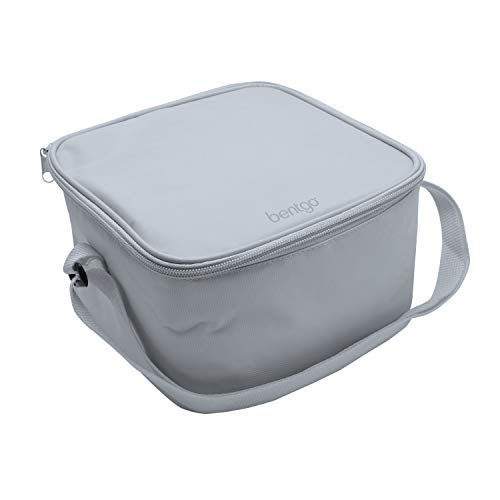 Bentgo Bag (Gray) - Insulated Lunch Bag Keeps Food Cold On The Go - Fits The Classic Lunch Box, Cup,...