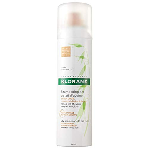 Klorane Dry Shampoo with Oat Milk, Natural Tint for Brunettes