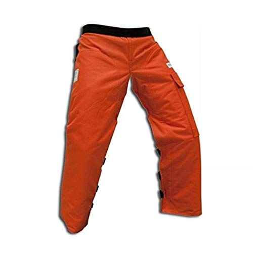 Forester Chainsaw Apron Chaps with Pocket, Orange 37 Length with Adjustable Belt