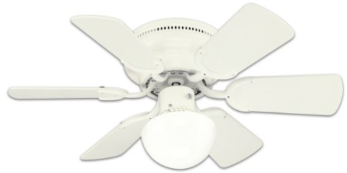 Westinghouse Lighting 78108 Petite Reversible 3-Speed Hugger Six-Blade Indoor Ceiling Fan with...