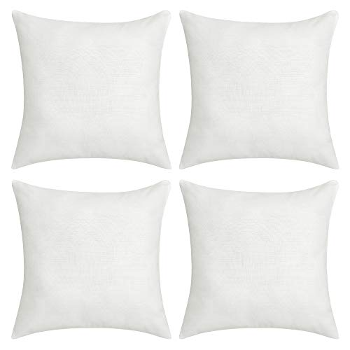 Deconovo Soft Cushion Covers Faux Linen Blank Pillow Covers Throw Pillow Cases for Sofa 18x18 Inch...