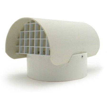 RadonAway Fan Pipe Cap with Screen for 3' PVC