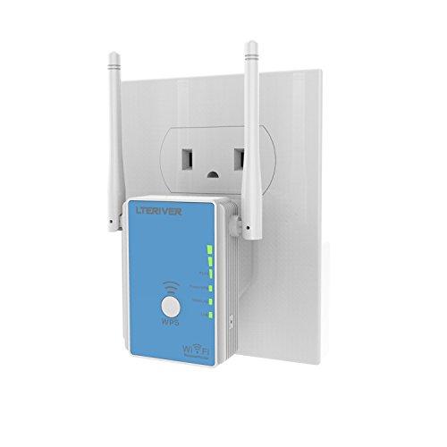 LTERIVER 802.11 N 300Mbps WiFi Repeater WiFi Range Extender WiFi Signal Booster Wireless AP Mini...
