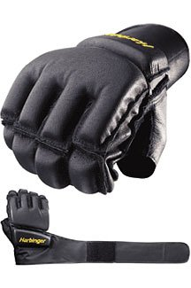 Harbinger Men's WristWrap Bag Glove with Cushioned Palm, Large (Pair)