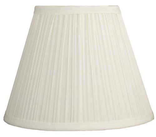 Urbanest Mushroom Pleated Softback Lamp Shade, Faux Silk, 5-inch by 9-inch by 7-inch, Black, Spider...