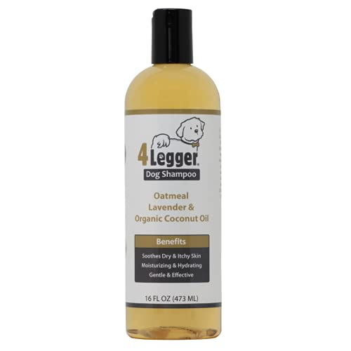 4Legger Organic Oatmeal Dog Shampoo with Aloe and Lavender Essential Oil - All Natural Safely...