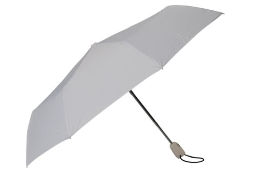 RainStoppers Auto Open Auto Close Deluxe Mini Umbrella, White, 42-Inch