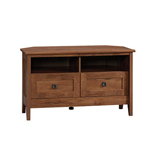 Sauder August Hill Corner Entertainment Stand, For TV's up to 40', Oiled Oak finish