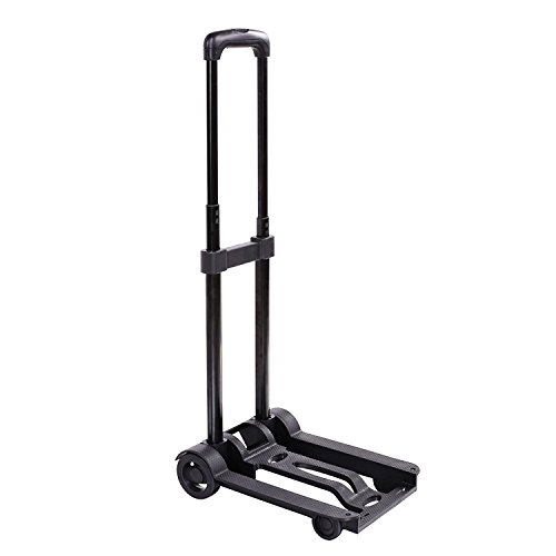 Portable Folding Hand Push Truck, Hand Collapsible Trolley for Luggage, Personal, Travel, Auto,...