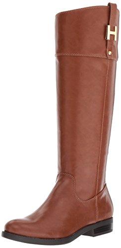 Tommy Hilfiger Women's SHYENNE Equestrian Boot, Brown, 6.5