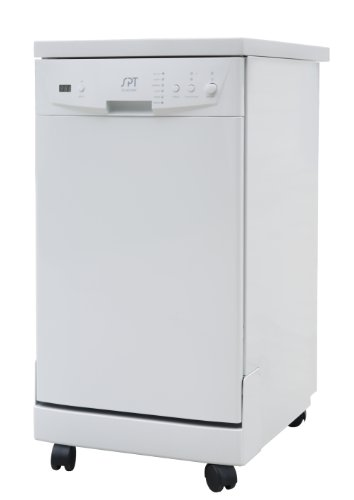 SPT SD-9241W: Energy Star 18' Portable Dishwasher - White