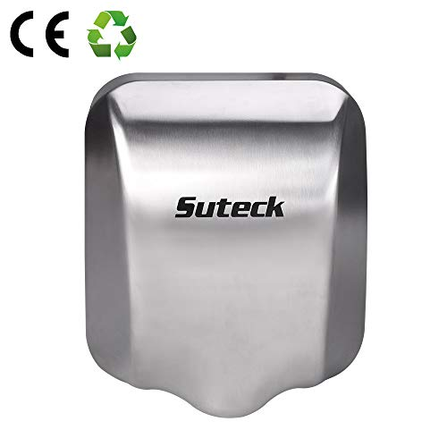 Suteck Automatic Electric Hand Dryer - Heavy Duty Commercial Hand Dryers 1800W, 100M/S High Speed...