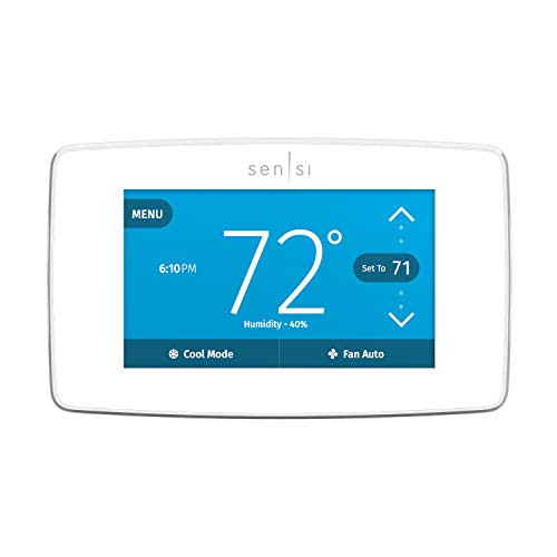 Emerson Sensi Touch Wi-Fi Smart Thermostat with Touchscreen Color Display, Works with Alexa, Energy...