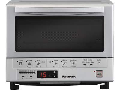 Panasonic FlashXpress Compact Toaster Oven with Double Infrared Heating, Crumb Tray and 1300 Watts...