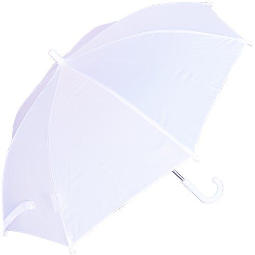 RainStoppers W101CHWHITE 34-Inch Children's Umbrella, White
