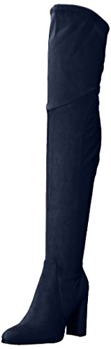 Marc Fisher Women's Nella Over The Over The Knee Boot, Blue, 8.5 Medium US