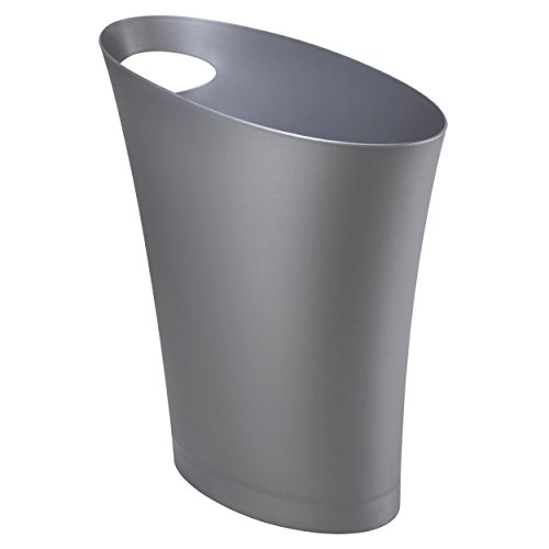 Umbra Skinny Sleek & Stylish Bathroom Trash, Small Garbage Can Wastebasket for Narrow Spaces at Home...