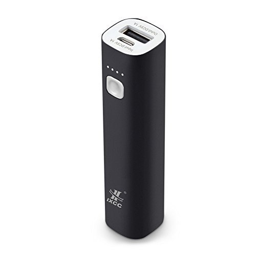 Mini 3400mAh Portable Power Bank, iXCC (3rd Generation) Lipstick-Sized Charger Compact Aluminum...