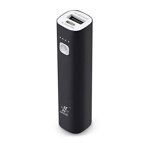 Mini 3400mAh Portable Power Bank, iXCC (3rd Generation) Lipstick-Sized Charger Compact Aluminum...