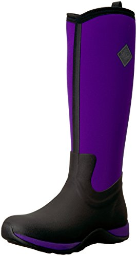 Muck Arctic Adventure Tall Rubber Women's Winter Boots, 9 M US, Black/Purple