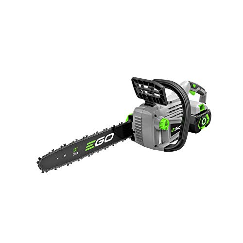 EGO Power+ CS1401 14-Inch 56-Volt Lithium-Ion Cordless Chain Saw 2.5Ah Battery and Charger Included,...