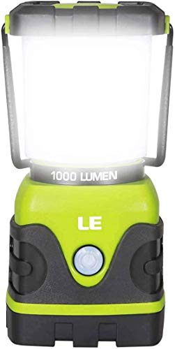 LE LED Camping Lantern, Battery Powered LED with 1000LM, 4 Light Modes, Waterproof Tent Light,...