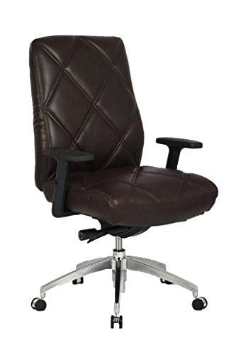 VIVA OFFICE Diamond Pattern High Back Bonded Leather Office Executive Chair Adjustable Armrest,...