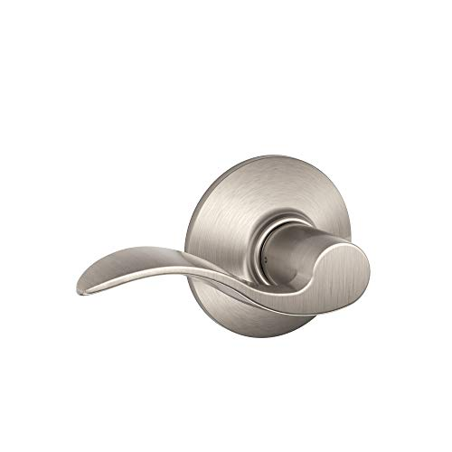 SCHLAGE F10 V Acc 619 Hall & Closet (Passage) Cylindrical Lock, 1 Pack, Satin Nickel