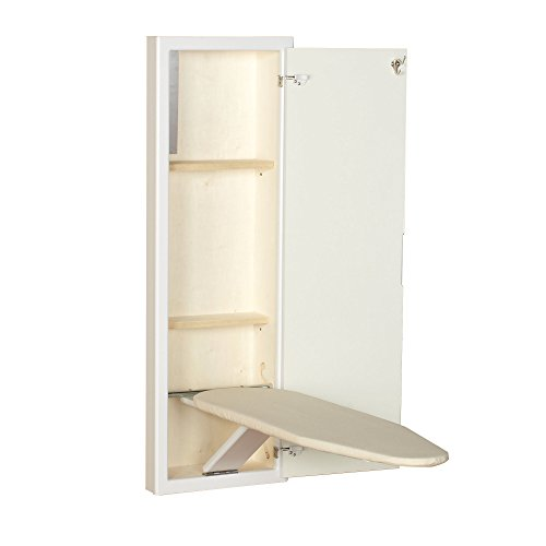 Household Essentials 18100-1 StowAway In-Wall Ironing Board Cabinet with Built In Ironing Board |...